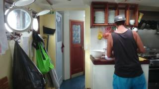 Jak marynarze gotują podczas sztormu – północny Atlantyk