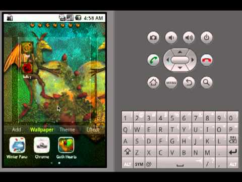 Video of GO Launcher Theme Goth Hearts