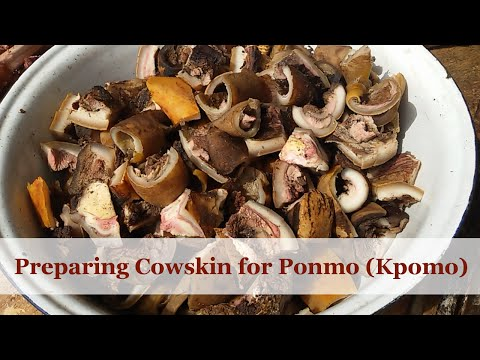How Ponmo (Kpomo) is derived from Cow Skin | Flo Chinyere