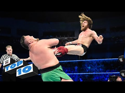 Top 10 SmackDown LIVE moments: WWE Top 10, June 19, 2018 (видео)