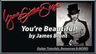 You're Beautiful by James Blunt - Guitar Lesson How to Play