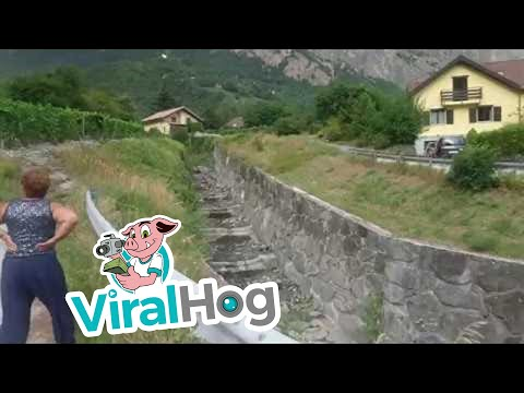 Massive Mudslide in Switzerland || ViralHog