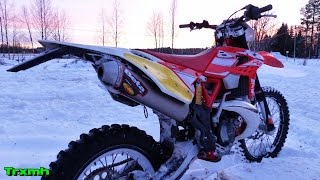 8. Beta RR300 2-Stroke Enduro Playing in the Snow (Edit)