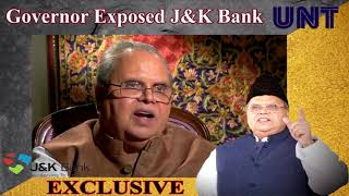 Video J&K Governor exposes Jammu and Kashmir Bank; 582 people appointed by Politicians | UNT MP3, 3GP, MP4, WEBM, AVI, FLV November 2018