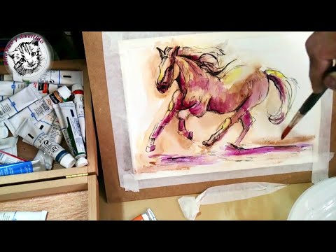 Como pintar un caballo con acuarela y tinta t cnicas - Como pintarse bien ...