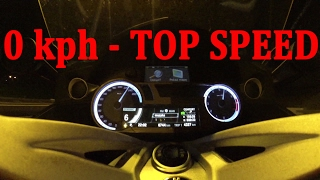 2. BMW K 1600 GTL Acceleration & top speed