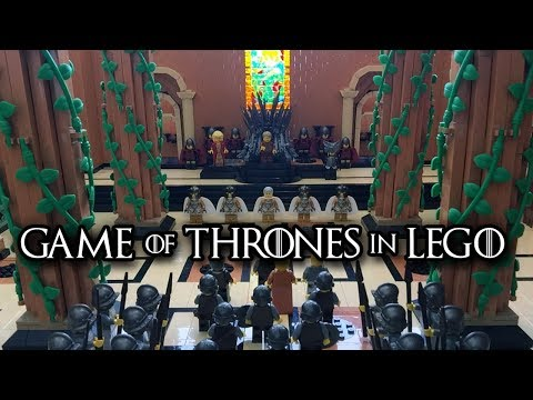 An Incredibly Detailed LEGO Replica of the Red Keep Throne Room From Game of