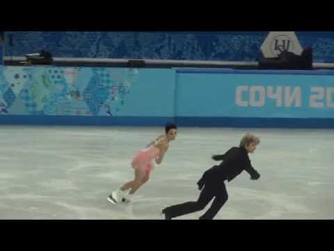 Meryl Davis and Charlie White practice SD Sochi 2014 Winter Olympics (Olympic Games)