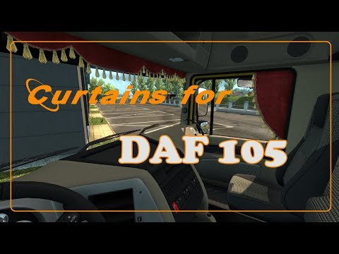 Animated Side Curtains for DAF 105 v1.0