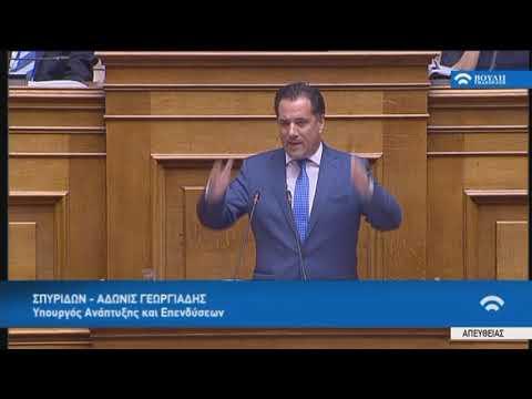 Ά.Γεωργιάδης(Υπ.Ανάπτυξης και Επενδύσεων)(Προγραμματικές δηλώσεις)(22/07/2019)