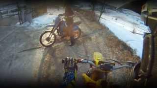 9. 5 Minutes of Dirt Bike Action - 2 Stroker Power Suzuki RM250