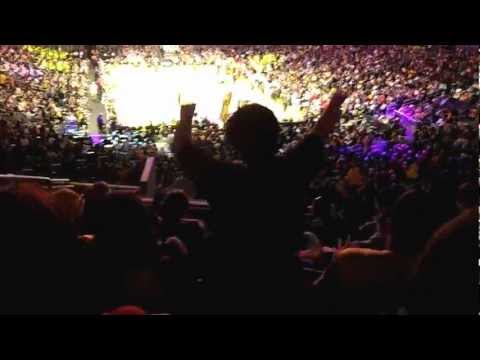 Lakers fan going crazy!