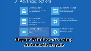 Video Repair Windows 10 using Automatic Repair MP3, 3GP, MP4, WEBM, AVI, FLV Januari 2019