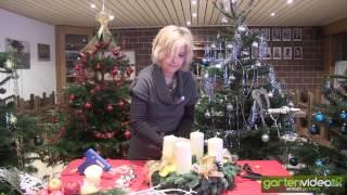 #915 Weihnachtsdekoration - Klassischen Adventskranz schmücken und dekorieren