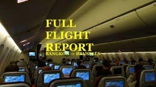 Thai Airways Bangkok - Brussels B777-300ER Flight Report
