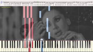В зоне риска - LOBODA (Ноты и Видеоурок для фортепиано) (piano cover)