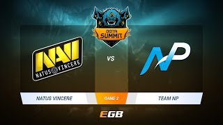 Natus Vincere vs Team NP, Game 2, DOTA Summit 7 LAN-Final, Day 4