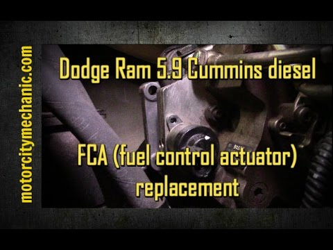 Dodge Ram 5.9 Cummins diesel FCA (fuel control actuator) replacement