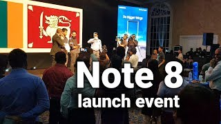 Galaxy Note 8 Official launch event in Sri Lanka