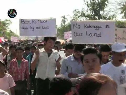 Thousands march against UN in Sittwe