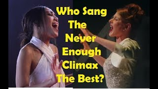 "Video Who Sang The ""Never Enough"" Climax The Best? MP3, 3GP, MP4, WEBM, AVI, FLV Juni 2018"