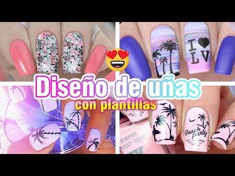 Diseños de uñas - DISEÑOS DE UÑAS CON PLANTILLAS (10 STAMPING TE ENCANTARAN)