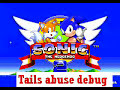 Using the amazing debug cheat, Sonic uses his new powers to torture Tails... Note: I actually like Tails, he is one of my favourite Sonic characters.