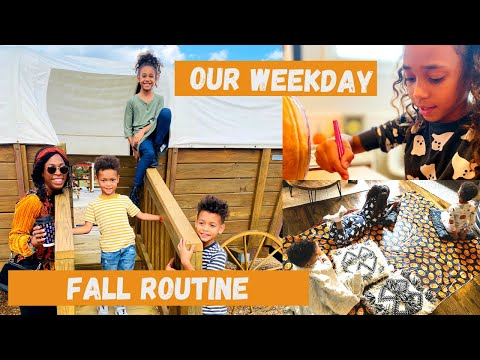 OUR WEEKDAY FALL ROUTINE: Distance Learning & Tips To Stay Sane!