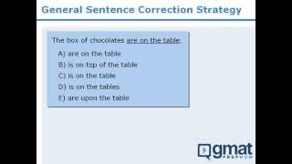 GMAT Prep - Sentence Correction - General Strategy