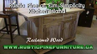 Mennonite Rustic Pine Simplicity Kitchen Island