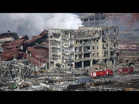 Κίνα: Εικόνες βιβλικής καταστροφής από τις εκρήξεις στο λιμάνι Τιαντζίν