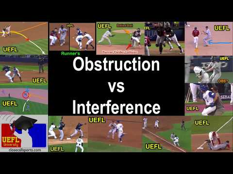 Obstruction Vs Interference In Professional Baseball - Basic Overview