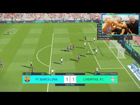 PES 2018 GAMEPLAY BARCELONA vs LIVERPOOL (COOP 3v3 CON)