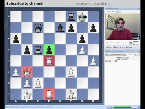 chess - Daniel King demonstrates Anand vs Topalov from round 3 of the Norway Chess Tournament.. Click here for Daniel King's latest Power Play DVDs: http://chessbase...