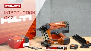 INTRODUCTION to using the Hilti gas-actuated fastening tool GX 2