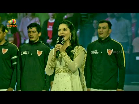 Sunny Leone In Trouble For Singing National Anthem Incorrectly | Pro Kabaddi League
