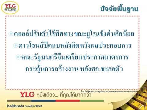 YLG บทวิเคราะห์ราคาทองคำประจำวัน 22-04-15