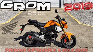 7. 2019 Honda Grom 125 Walk-around 'Halloween Orange' | Mini Bike / Motorcycle (miniMOTO / MSX125)