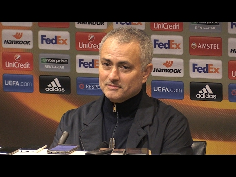 Manchester United 3-0 St Etienne - Jose Mourinho Full Post Match Press Conference - Europa League (видео)