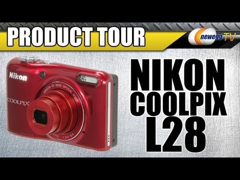 Newegg TV: Nikon COOLPIX L28 Red Digital Camera Product Tour