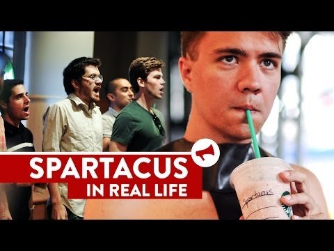 """I Am Spartacus!"" Starbucks Prank - Movies In Real Life (Ep 9)"