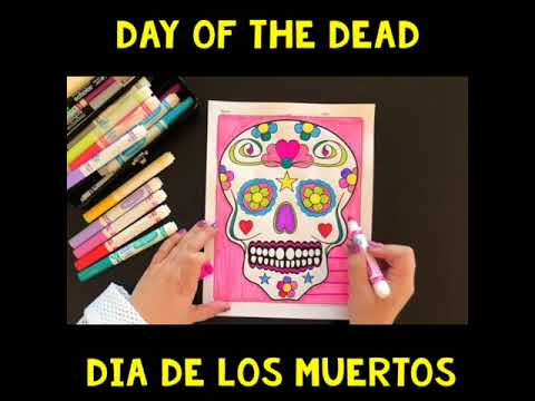 FREE Day of the dead coloring page Dia de los Muertos