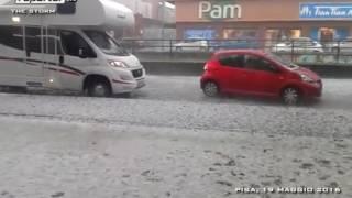 Maggio Italy  city images : SUPER GRANDINATA SU PISA - SEVERE HAILSTORM ITALY 19 MAGGIO 2016