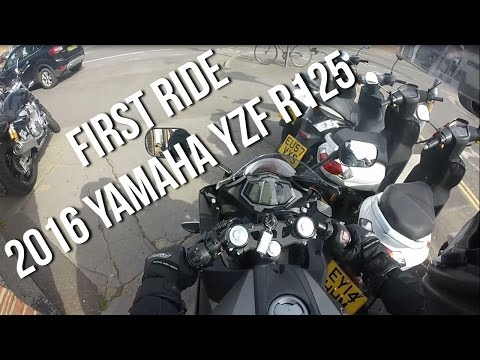 First Ride On My New Bike | 2016 Yamaha YZF-R125