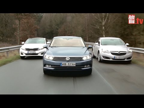 VW Passat vs. Opel Insignia & Kia Optima