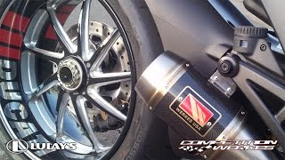 10. Lulay's Competition Werkes Carbon Exhaust Install on 2013 Ducati Diavel Carbon Red