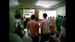 Sangkulirang Indonesia  City new picture : Lagu Indonesia Raya pada Acara Seminar Internasional Sangkulirang 2013