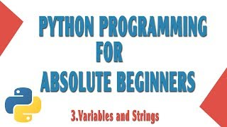 """This is the third video to """"Learn Python Programming for beginners"""".In this video you will learn about the variables and strings in python.Variables: x = 10String: str = """"Hello""""GitHub: https://github.com/onthirTwitter: @techinov22"""