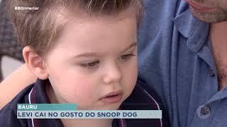 Snoop Dog compartilha vídeo de bebê de Bauru cortando cabelo