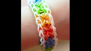 Rainbow loom starburst tutorial! (Beginners can do it too) - YouTube